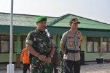 Jelang pelantikan presiden, TNI-Polri Waykanan gelar apel bersama