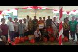 Satgas TMMD bagikan sembako gratis untuk warga perbatasan di Kapuas Hulu