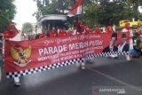 Warga DIY meramaikan Parade Merah Putih sambut pelantikan Presiden