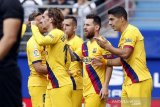 Manajer Barcelona Ernesto Valverde menilai kesuburan Trio MSG cuma soal waktu