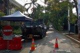 Pelantikan Presiden, panser Anoa disiagakan di depan kediaman Ma'ruf