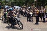 Polres Banyumas menggelar patroli skala besar saat pelantikan presiden