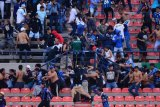 Penonton rusuh, Laga liga Meksiko dihentikan