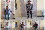 Lima nelayan tengah asyik nyabu ditangkap polisi