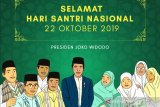Presiden Jokowi ucapkan Selamat Hari Santri