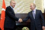 Putin dan Erdogan berjanji lanjutkan kerja sama militer dan energi