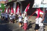 Hari Santri di Kudus diwarnai oleh kirab 22 bendera merah putih