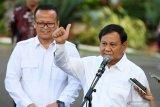 Prabowo Subianto masuk kabinet riuh medsos berkurang