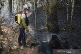 Kebakaran di kaki  Gunung Lompobattang Gowa belum padam