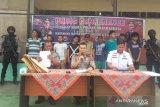 Polisi Dharmasraya ringkus sembilan tersangka narkotika, dua orang merupakan bandar
