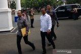 Pagi ini, Presiden Jokowi gelar sidang paripurna Kabinet Indonesia Maju perdana