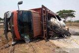 Polisi: sopir bus pelajar asal Batang kecelakaan di Cipali kurang konsentrasi