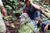 Kakek yang hilang di hutan Silayu Malalak Agam ditemukan dalam kondisi lemas