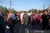 Masyarakat Gowa antusias sambut kunjungan perdana Mentan SYL