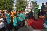 Peringati HSN 2019 santri Sulteng jalan santai dengan busana muslim