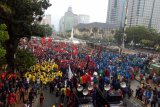 Massa mahasiswa Borak ikuti bergabung dalam aksi Indonesia Memanggil