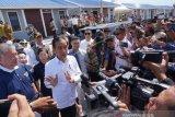 Jokowi sebut pembangunan huntap Palu terhambat pembebasan lahan