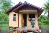 20 unit rumah warga Kogir selesai dibangun Satgas TMMD Merauke