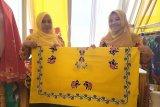 Siswa disabilitas Lampung Timur hasilkan batik motif badak dan lada
