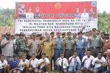 TMMD Sarmi di Namunaweja Kabupaten Mamberamo Raya resmi ditutup