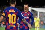 Pique membantah Lionel Messi dan Antoine Griezmann tidak akur