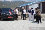 Presiden Jokowi tinjau pembangunan huntap di Palu