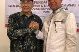 Ismeth Abdullah serahkan formulir calon gubernur ke Gerindra