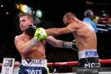 Canelo Alvares raih juara dunia usai menang KO