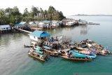 Puluhan sampan ramaikan lomba mancing di Pulau Akar