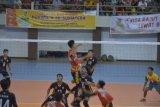 Bola voli putera Lampung menang atas Sumbar 3-0