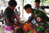 Yonif MR 411/PDW gelar pelayanan kesehatan dan posyandu di Merauke