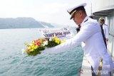 Lantamal II gelar upacara tabur bunga di Laut Padang peringati Hari Pahlawan