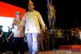 Prabowo Subianto resmikan patung Jenderal Soedirman di Sleman