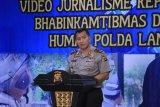 Jajaran Polda Lampung ikuti kegiatan peningkatan kemampuan video jurnalistik