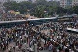 Tabrakan kereta api di Bangladesh tewaskan sedikitnya 14 orang