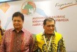 Nurdin Halid  isyaratkan Airlangga terpilih aklamasi di Munas Golkar