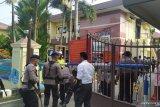 Mako Polrestabes Medan dijaga  ketat pascaledakan