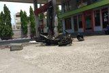 Satu unit motor terbakar di SPBU Bandarlampung