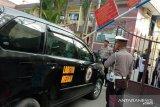 Brimob jaga ketat Polrestabes Medan