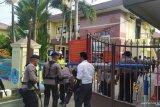 Bom Medan, petugas Mako Polrestabes Medan dijaga ketat