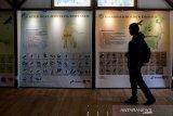 Pengunjung mengamati peta sebaran burung elang di Pusat Konservasi Elang Kamojang, Kabupaten Garut, Jawa Barat, Selasa (19/11/2019). Saat ini, Pusat Konservasi Elang Kamojang menampung 136 ekor burung elang dari 12 jenis, berdasarkan hasil sitaan dari perdagangan elang dan kepemilikan pribadi di berbagai kota di indonesia. ANTARA JABAR/Raisan Al Farisi/agr