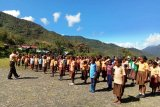 Kodim 1714/Puncak Jaya latih pramuka Saka Wira Kartika di SD YPPGI Mulia