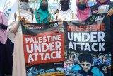 Puluhan ormas gelar gerakan peduli Palestina di Tugu Adipura Bandarlampung