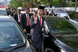 Presiden Joko Widodo mengaku sudah terbiasa terjebak macet