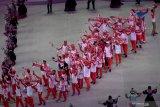 Kontingen Indonesia disambut meriah dalam pembukaan SEA Games 2019