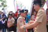 Bupati sambut kunjungan Gubernur dan wakil di kemah Barito Utara