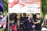 Peringatan HIV/AIDS sedunia digelar di area CFD Makassar