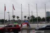 Hujan angin kencang landa Manila, bendera kontingen SEA Games 2019 diturunkan