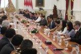 Presiden Jokowi terima delegasi Dewan Bisnis AS-ASEAN di Istana Merdeka
