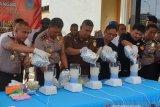 Kapolda Sumsel pimpin pemusnahan  lima kilogram sabu-sabu